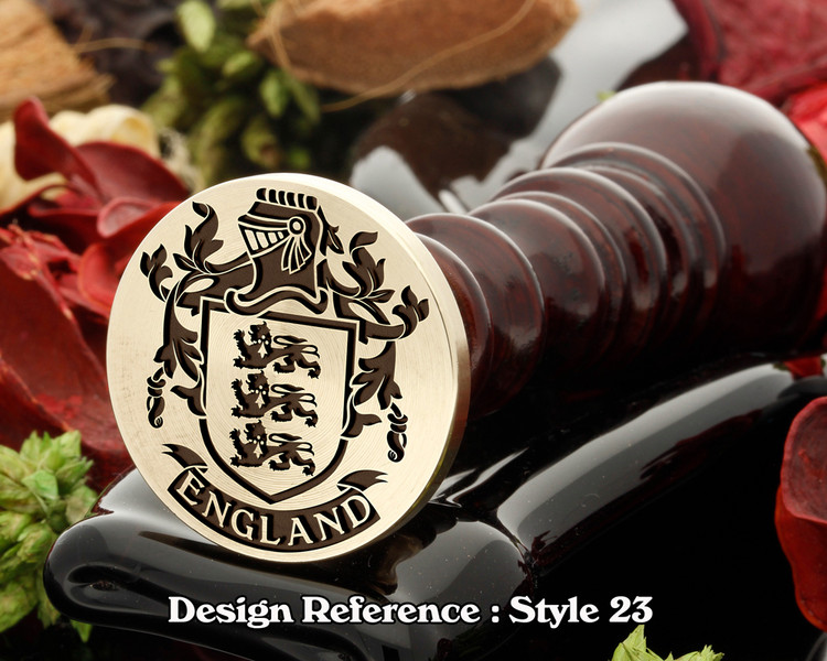 England Family Crest Wax Seal D23