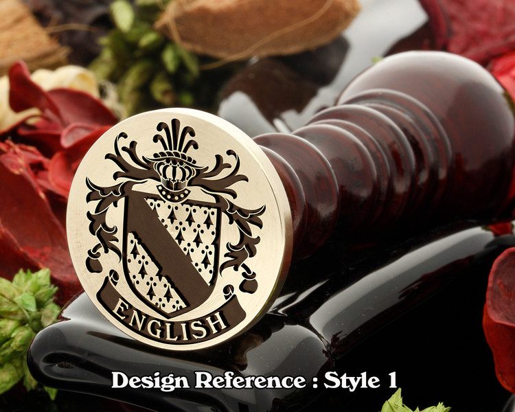 English Family Crest Wax Seal D1
