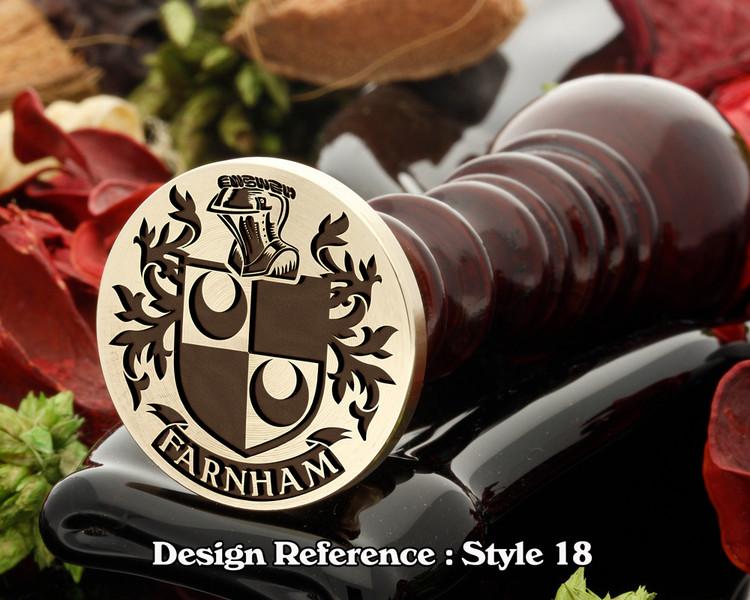 Farnham Family Crest Wax Seal D18