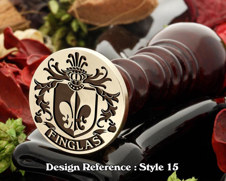 Finglas Family Crest Wax Seal D15