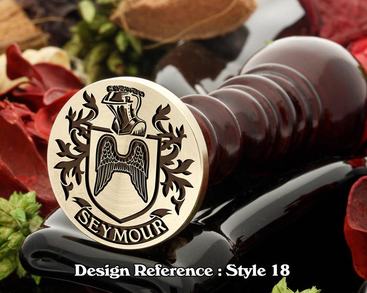 Seymour Family Crest Wax Seal D18