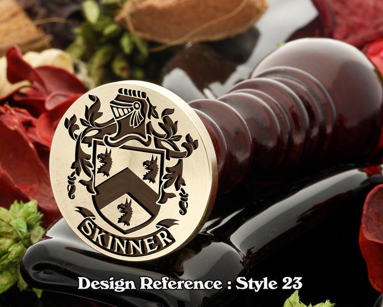 Skinner Family Crest Wax Seal D23