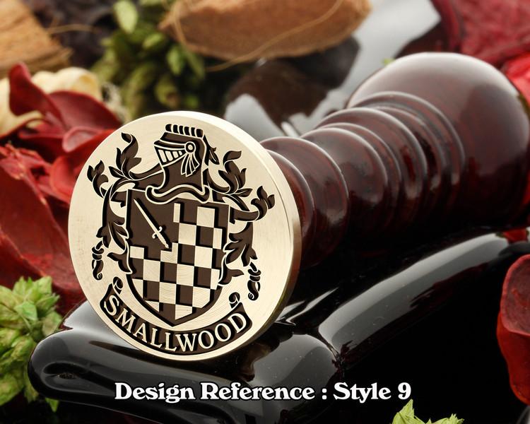 Smallwood Family Crest Wax Seal D9