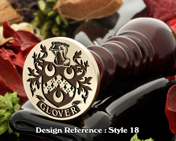 Glover Family Crest Wax Seal D18
