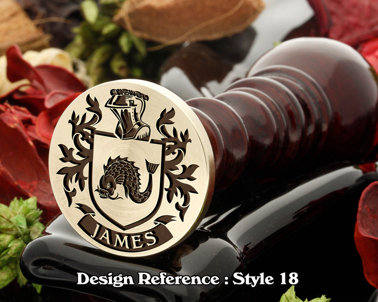 James Family Crest Wax Seal D18