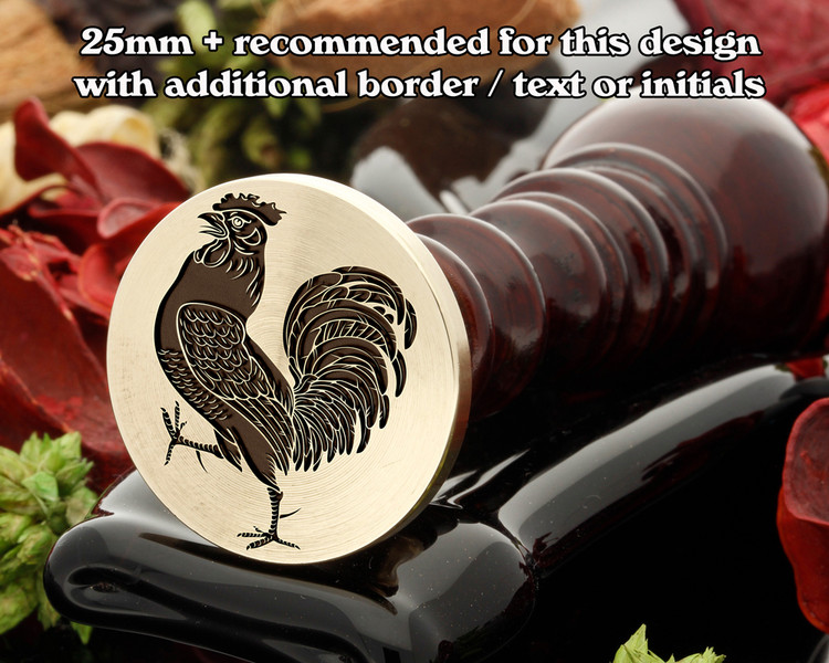 Cock (Rampant) Wax Seal Stamp