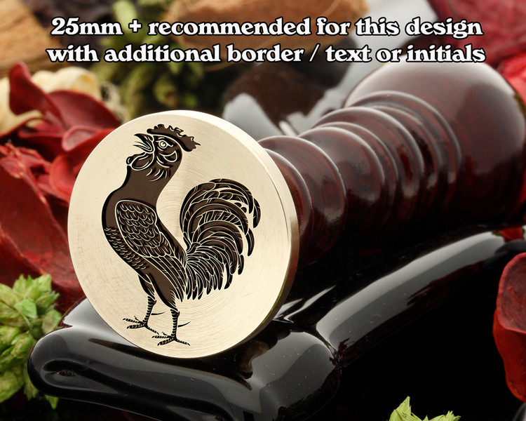 Cock (Crowing) Wax Seal Stamp