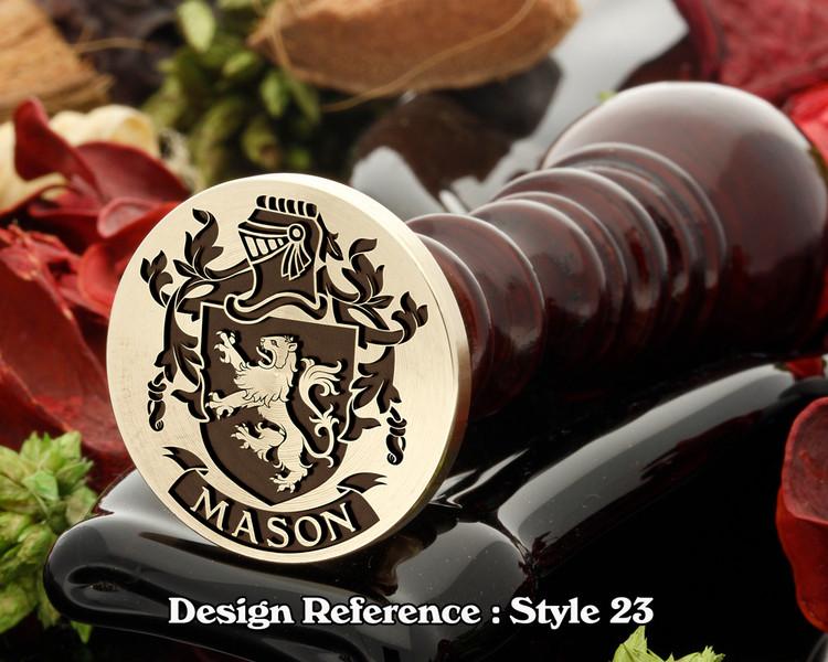 Mason Family Crest Wax Seal D23