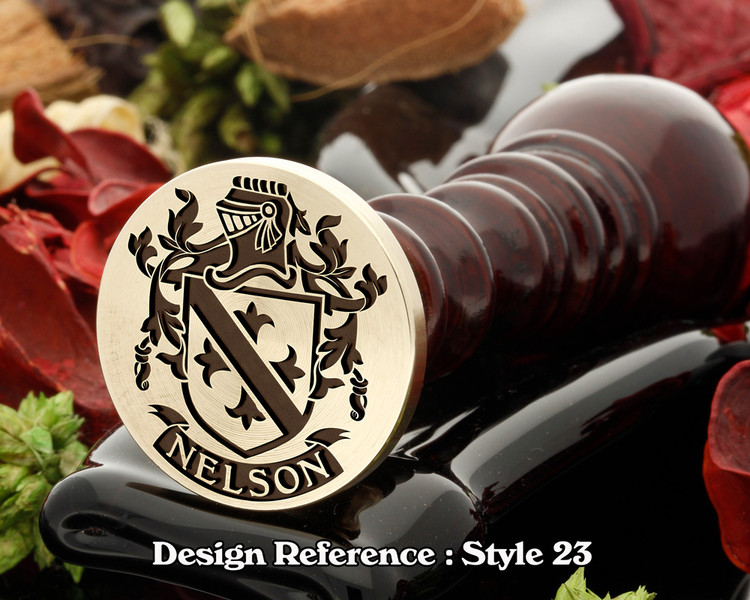 Nelson Family Crest Wax Seal D23