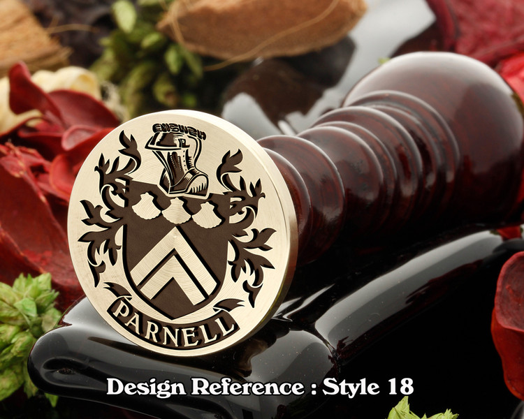 Parnell Family Crest Wax Seal D18