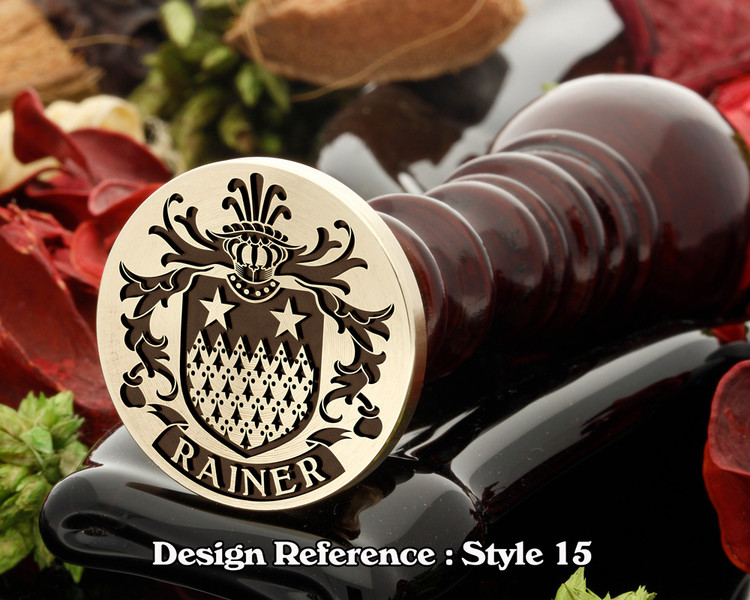 Rainer Family Crest Wax SealD15