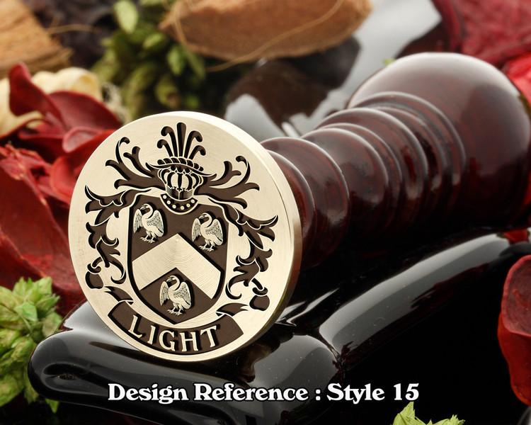 Light Family Crest Wax Seal D15
