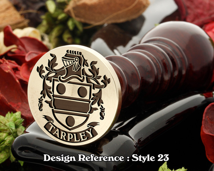 Tarpley Family Crest Wax Seal D23