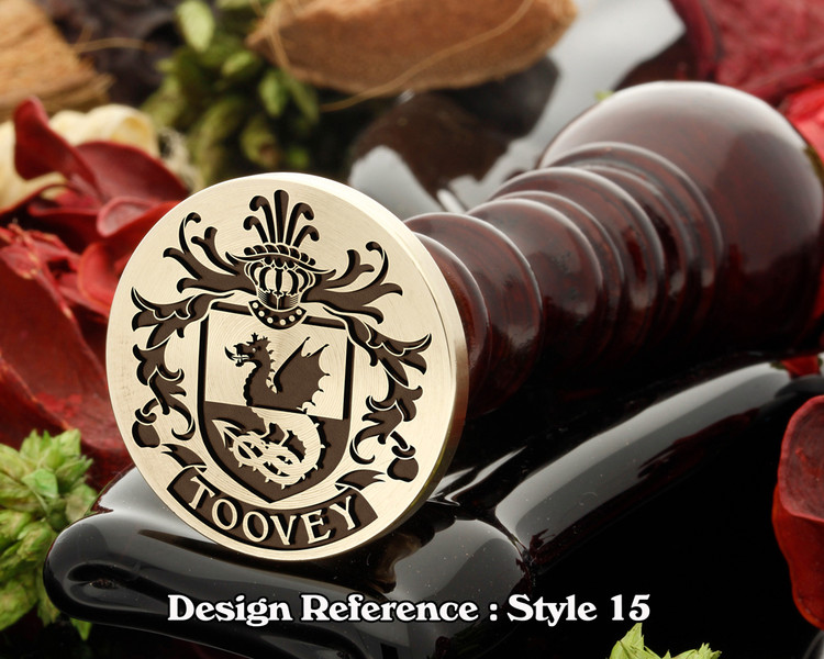 Toovey Family Crest Wax Seal D15