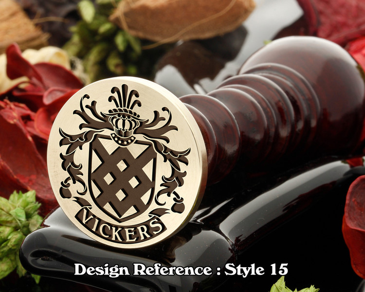 Vickers Family Crest Wax Seal D15