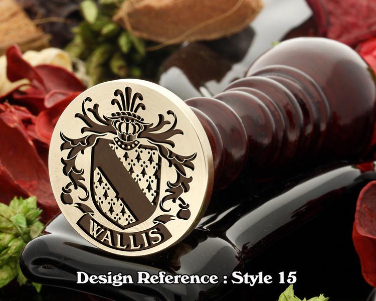 Wallis Family Crest Wax Seal D15