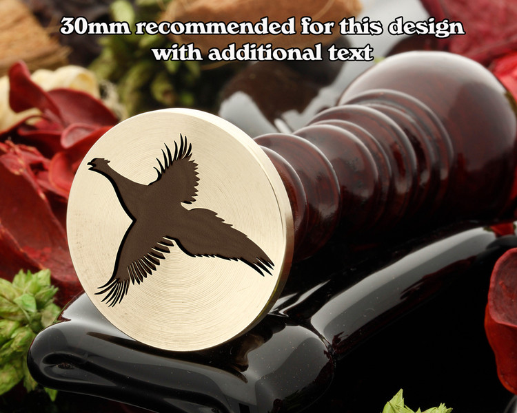 Pheasant in Flight Wax Seal Stamp.