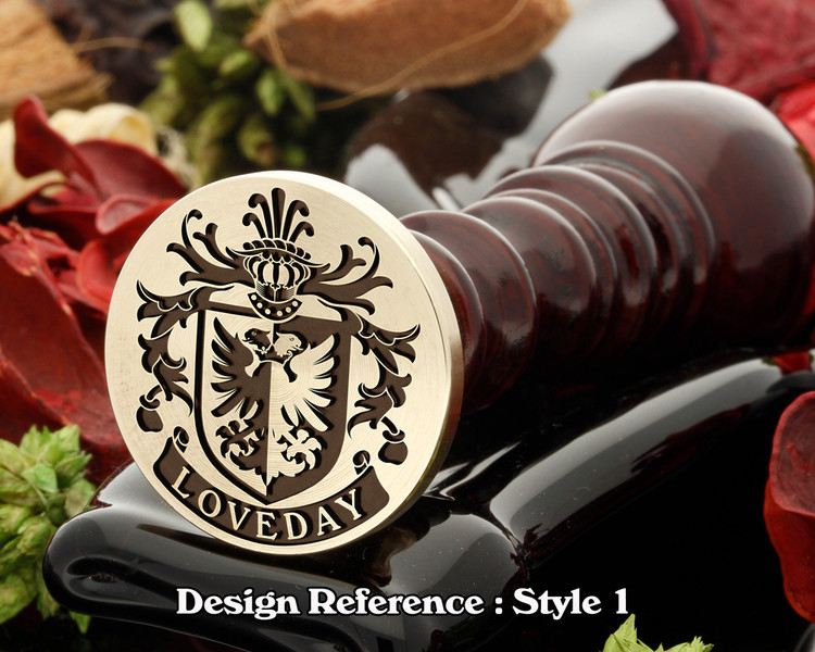 Loveday Family Crest Wax Seal D1