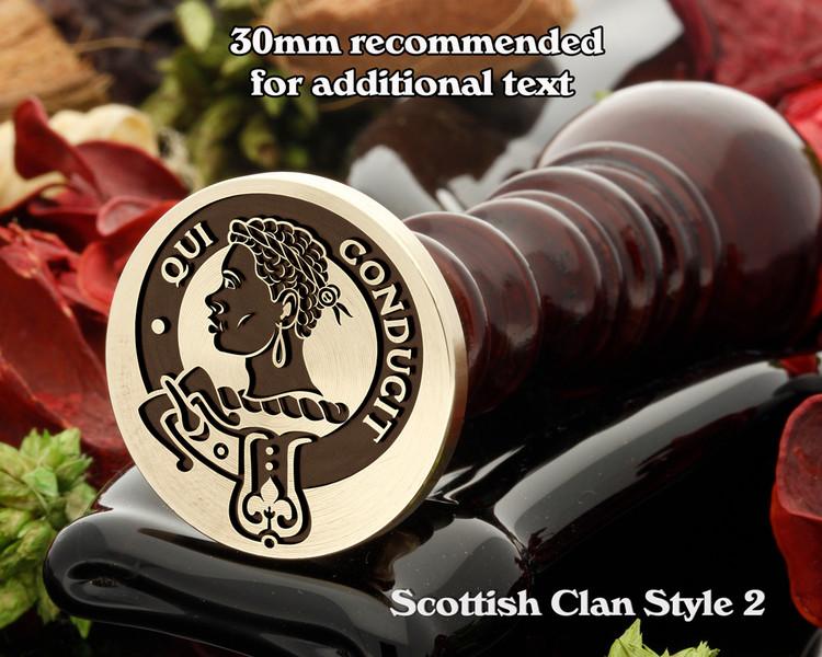 Borthwick Scottish Clan Wax Seal D2