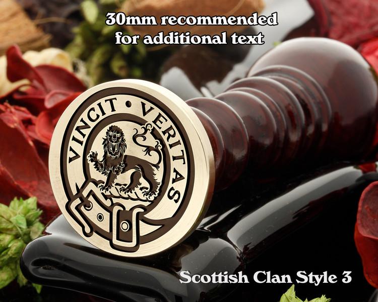 Baxter Scottish Clan Wax Seal D3
