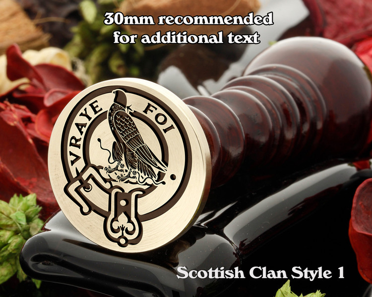 Boswell Scottish Clan Wax Seal D1
