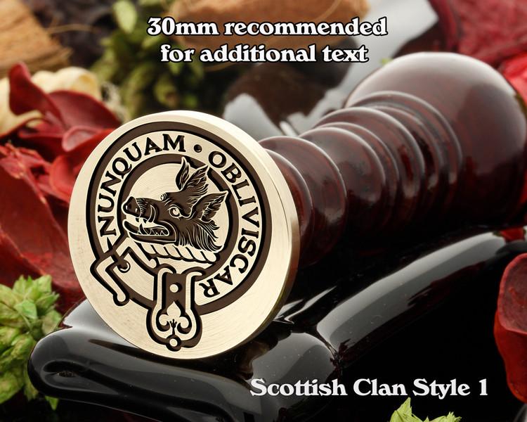MacIvor Scottish Clan Wax Seal D1