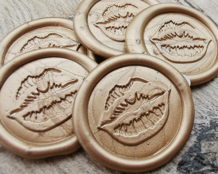 Sealed with a Kiss - custom handmade sealing wax stickers - all colours available