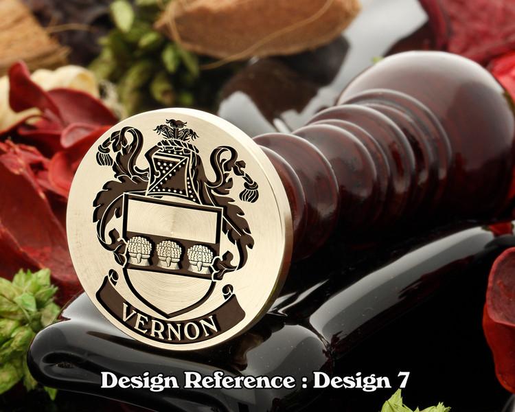 Vernon Family Crest Wax Seal D7