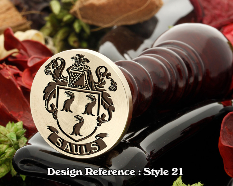 Sauls Family Crest Wax Seal D21