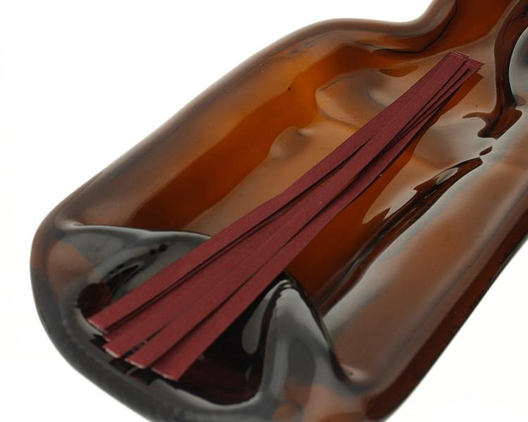 Burgundy Tear Tape Ribbon Strips - pack of 100