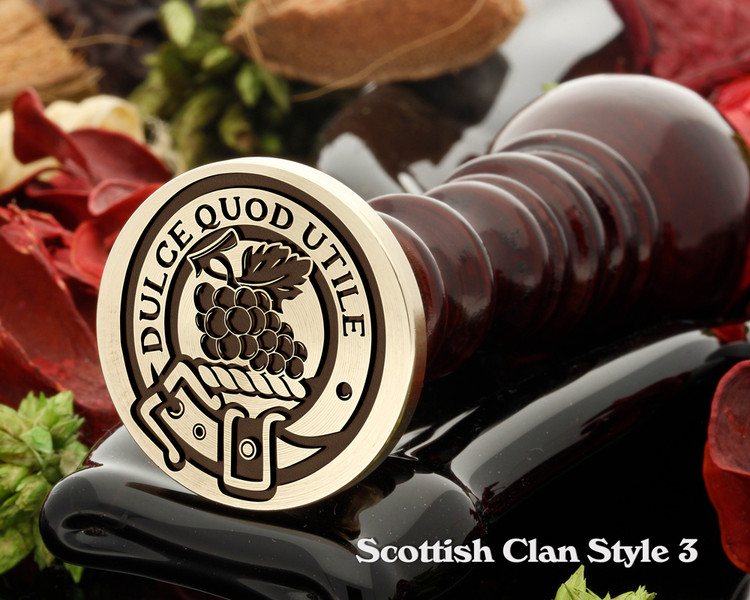Strange Scottish Clan Wax Seal D3