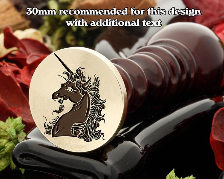 Heraldry Unicorn Head Coupled Wax Seal