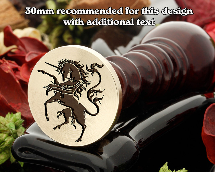 Heraldry Rampant Unicorn D3 Wax Seal