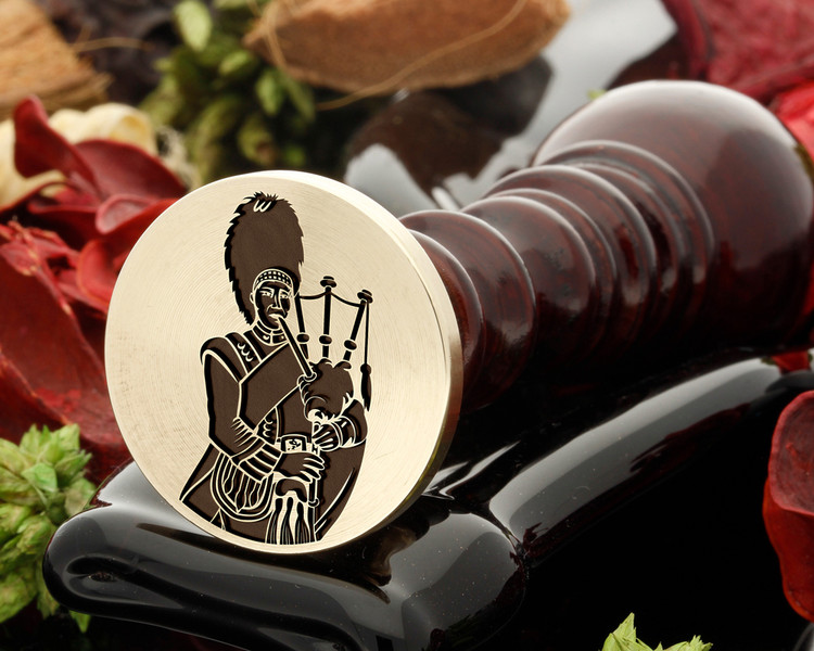 Scottish Piper Wax Seal from 25mm