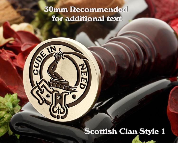 Ainslie Scottish Clan Wax Seal D1
