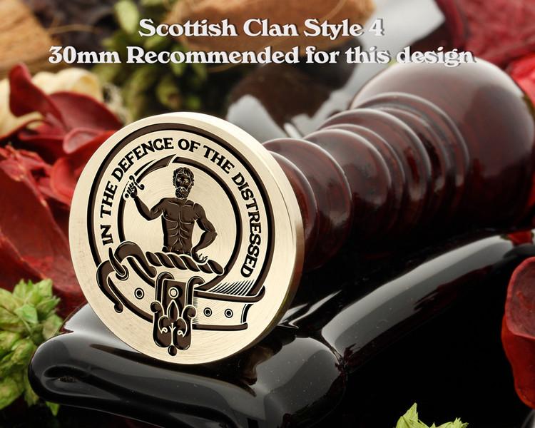 Allardice Scottish Clan Wax Seal D4