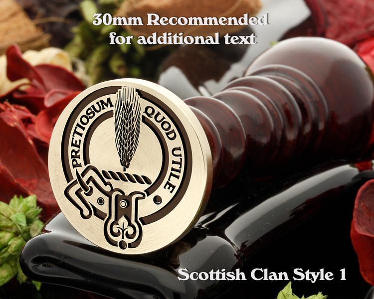 Auchinleck Scottish Clan Wax Seal D1