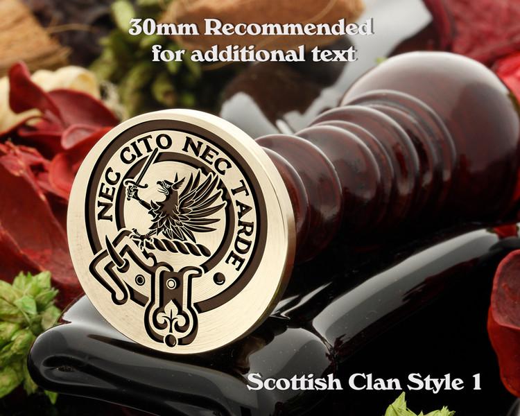 Bannatyne Scottish Clan Wax Seal D1