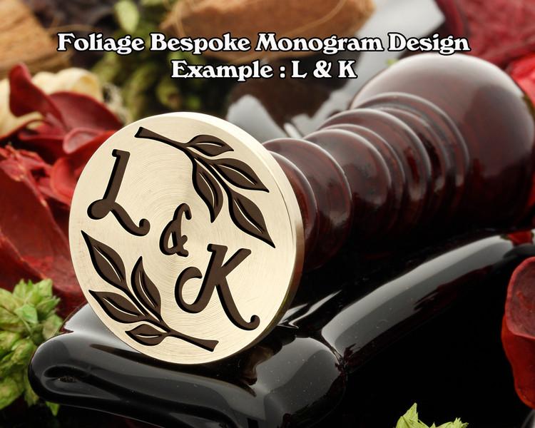 Foliage Monogram Example L&K
