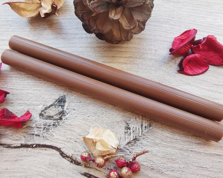 Brown Chocolate Plain 11mm Large Glue Gun Wax Sticks handmade in Shropshire