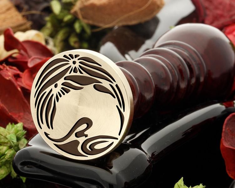 Art Deco D6 wax seal