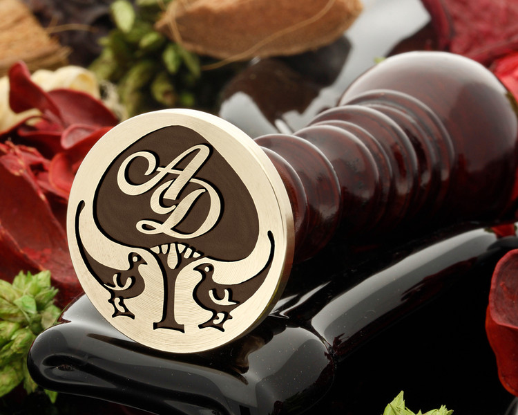 Art Deco D7 wax seal ( initial monogram extra cost )