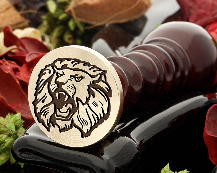 Lion 9 wax seal