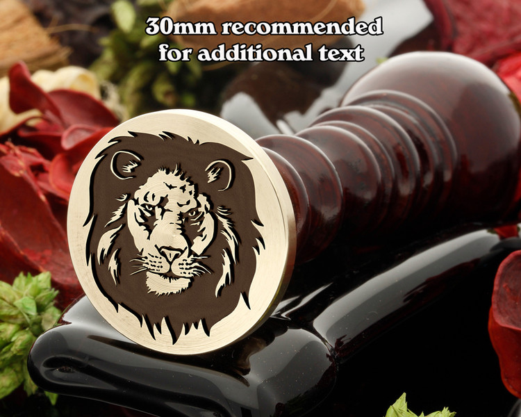 Lion D20 Wax Seal Stamp