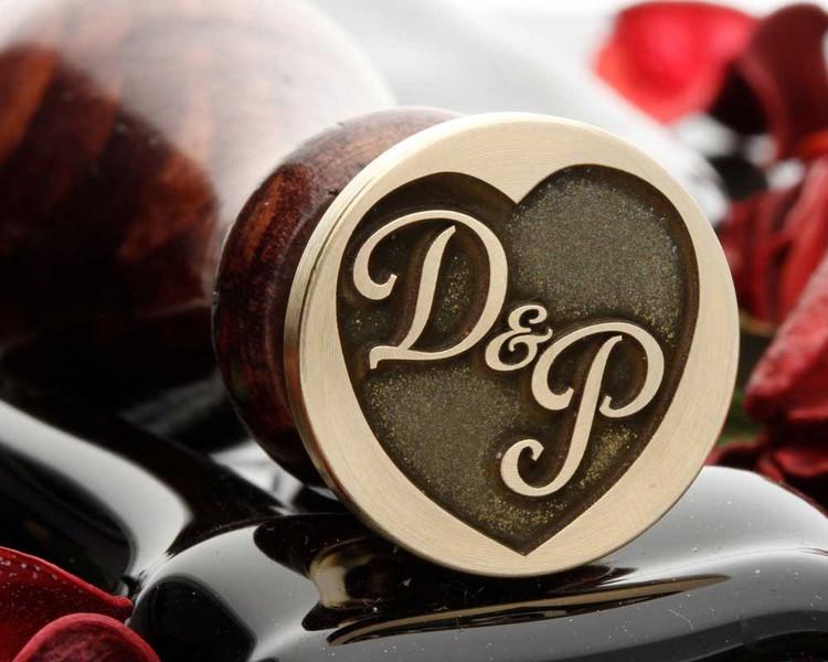 Heart Initials example D&P