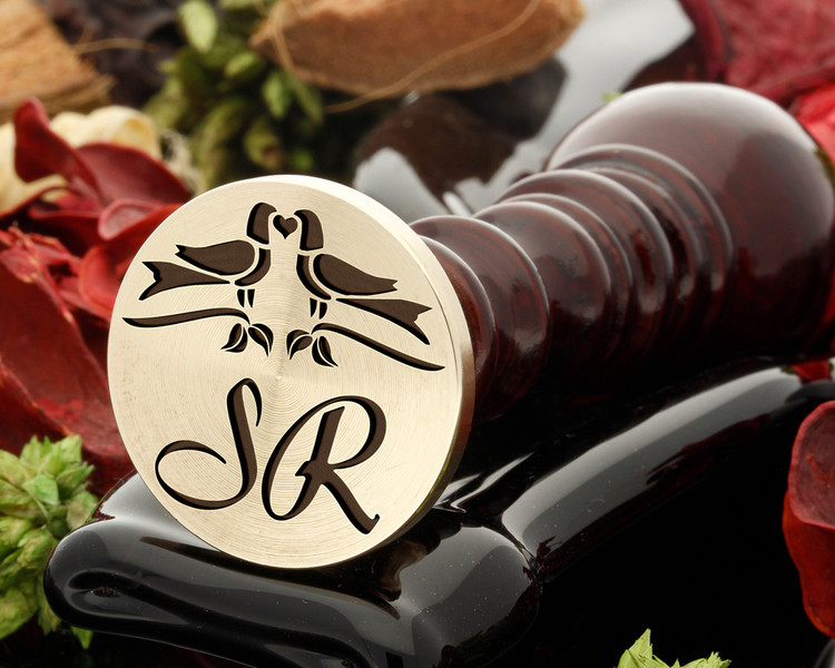 Love Birds Wedding Wax Seal SR