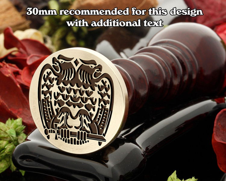 Masonic Double Headed Eagle Scottish Rite Wax Seal