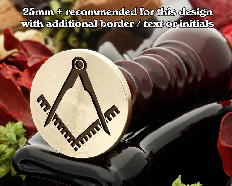 Masonic Square and Compass D6 Wax Seal