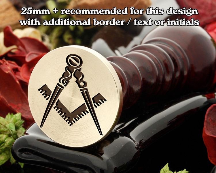 Masonic Square and Compass D2 Wax Seal