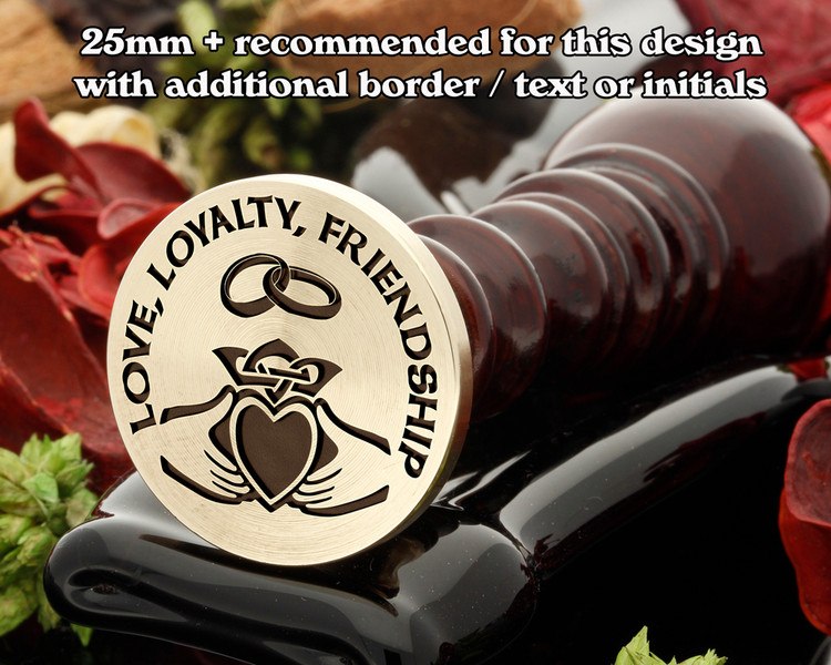 CLADDAGH DESIGN 5 WITH EXTRA TEXT